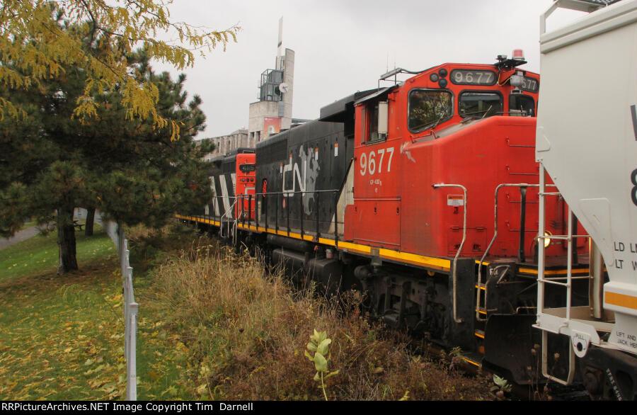 CN 9677 returning on local